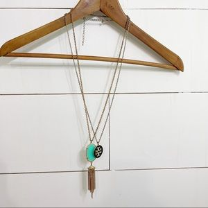 Necklace Bundle tassel and circle